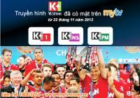 Đón xem K+ cùng trải Ngoại hạng Anh 2013 - 2014 trên MyTV